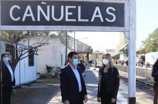 Cañuelas - Fassi supervisó el funcionamiento del Tren Sanitario.