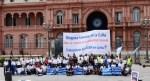 Trabajadoras/es de LATAM en lucha Movilización en Aeroparque Martes 08HS.