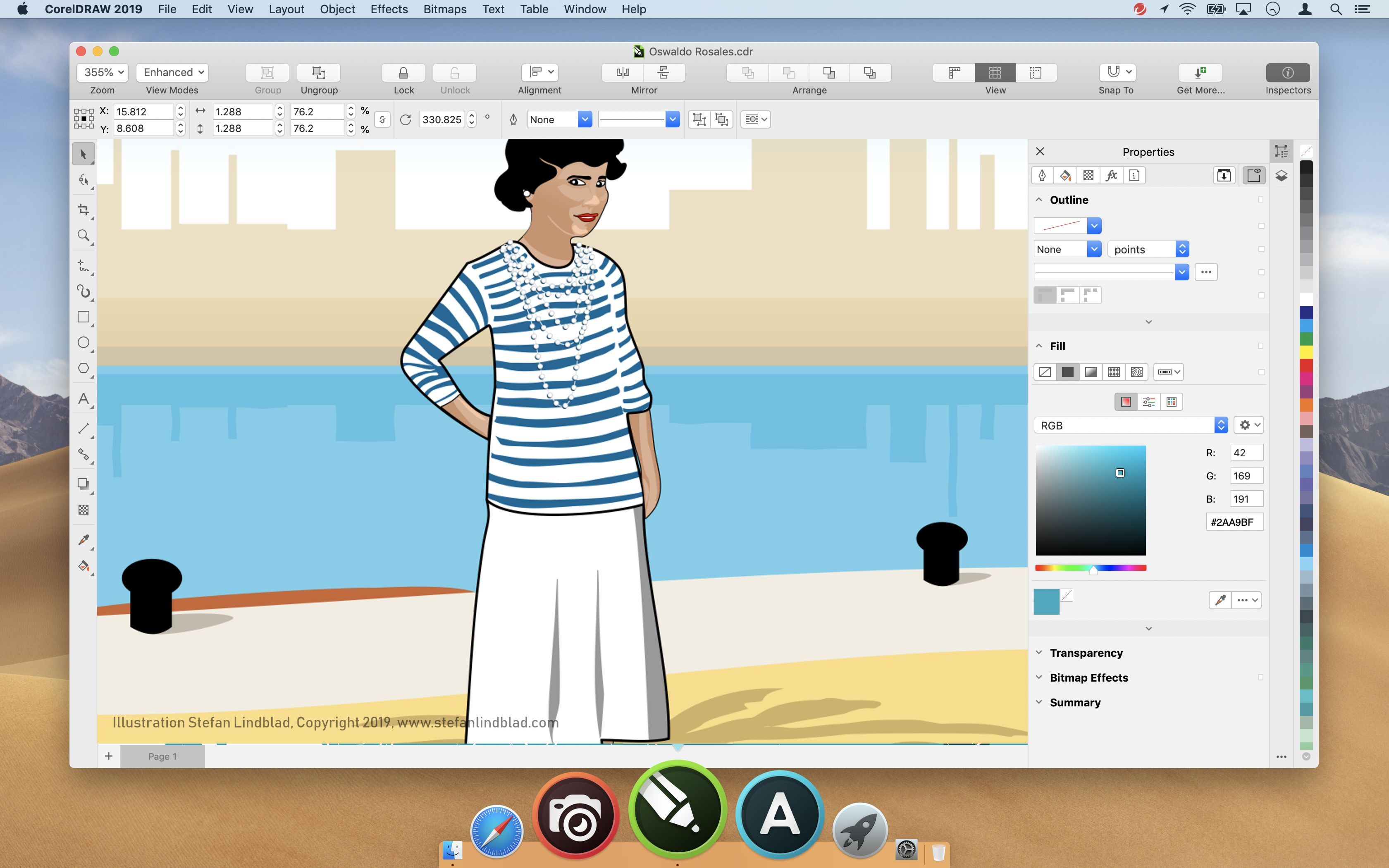 CorelDRAW 2019 for Mac, Vector illustration, editorial, by Stefan Lindblad
