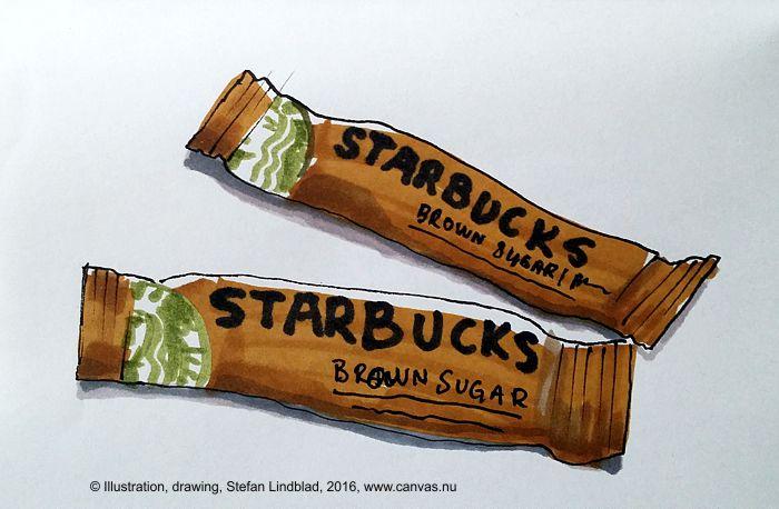Illustratör Stefan Lindblad, teckning, tuschpenna, marker, touch twin, Starbucks Sverige