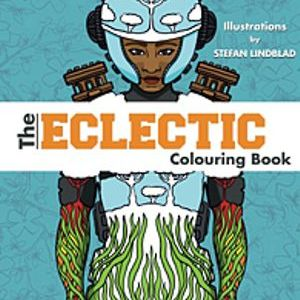 Målarboken The Eclectic Colouring Book, av Stefan Lindblad, illustration. Teckningar, illustrationer, målarböcker, amazon