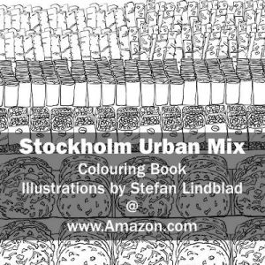 Illustration by Stefan Lindblad, Stockholm Urban Mix, the Colouring Book