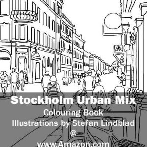 Stefan Lindblad, illustration, Illustratör, Illustration, teckningar, drawings, Corlouring, Coloring Book, Stockholm Urban Mix