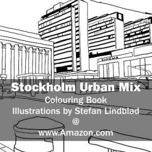 Stefan Lindblad, illustration, Illustratör, Illustration, teckningar, drawings, Corlouring, Coloring Book, Stockholm Urban Mix, hötorget