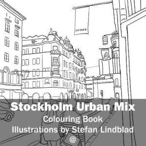 Stefan Lindblad, illustration, Illustratör, Illustration, teckningar, drawings, Corlouring, Coloring Book, Stockholm Urban Mix, kungsgatan
