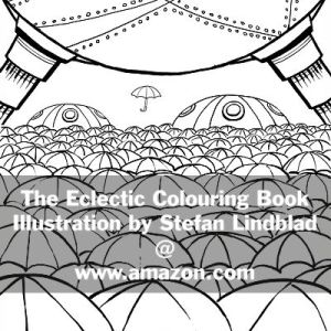 The Eclectic Colouring Book, Stefan Lindblad, illustrationer