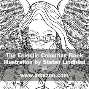 The Eclectic Colouring Book, Stefan Lindblad, illustrations
