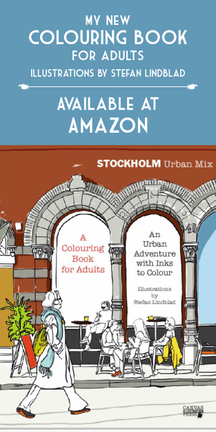 Målarbok, färgläggningsbok, Coloring, Book, Colouring, för vuxna, for adults, Stefan Lindblad, Stockholm, urban, mix, amazon, createspace, illustrations, Stockholm Urban Mix