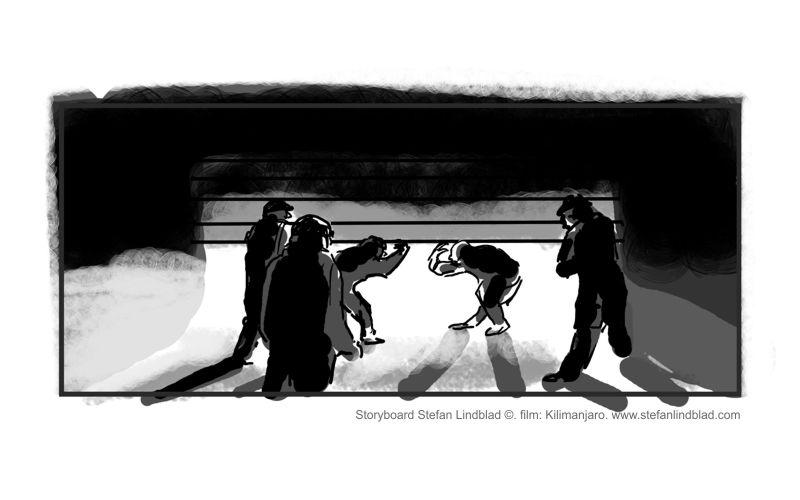 Illustratör, illustration, Storyboard, Kilimanjaro filmen movie, Stefan Lindblad