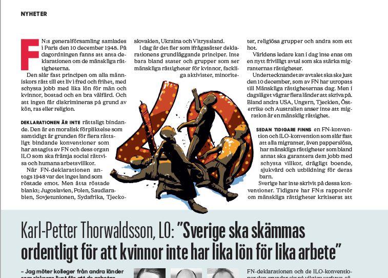 Illustratör, Illustrator, Stefan Lindblad, Corel Painter, Kommunalarbetaren, illustration, november, 2018