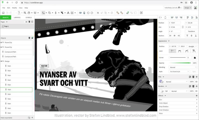 Samarbeta med kund i projekt via Corel Cloud och CorelDRAW.app