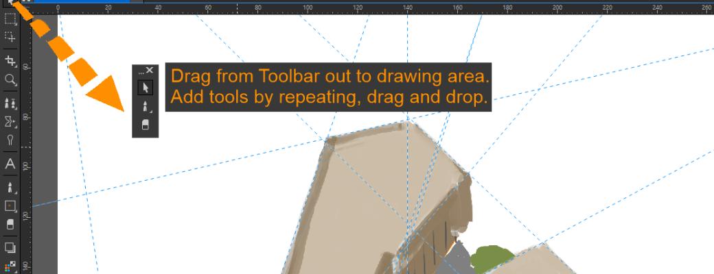 Custom toolbar in Corel PHOTO-PAINT, anpassade verktygspaletter