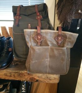 tanner goods tote and rolltop