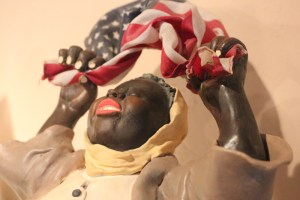 """Ameen's Mammy cookie jar collection, which includes """"Obama's Victory"""" above, has brought her acclaim and controversy."""