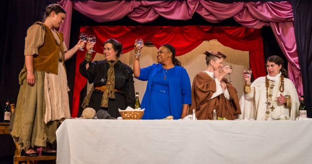 Courtney Brown, from left, Rocky Encalada, Lisa Langford, Anne McEvoy and Amy Schwabauer. PHOTO | Bob Perkoski