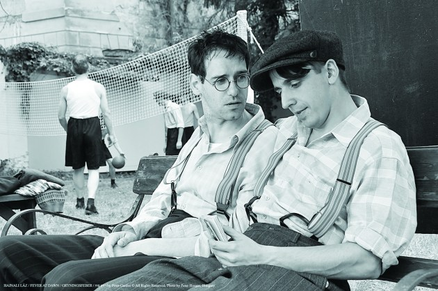 Milos, left, and Harry look over letters from Hungarian girls seeking to rediscover their community. PHOTO   Tivoli Film