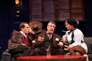 """From left, Jeremy Webb, Marc Moritz and Georgia Cohen in a Cleveland Play House production of """"Bell, Book and Candle."""" Photo by Roger Mastroianni"""