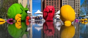 The Cracking Art animals were a hit while they were on display in Public Square between last summer and this March. Photo by Bob Perkoski | LAND studio