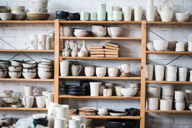 Gina DeSantis Ceramics' studio is one of many shoppers will be able to visit during Screw Factory Artists' Holiday Market. Photo by Screw Factory Artists