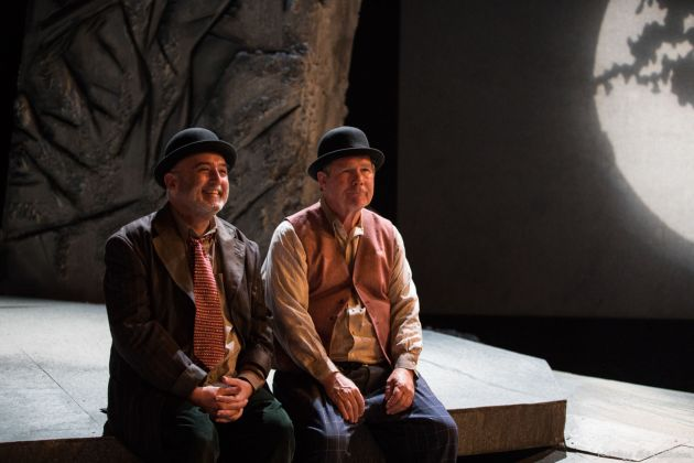 "Michael Mauldin as Vladimir, from left, and William Hoffman as Estragon in the Beck Center's ""Waiting for Godot."" Photo / Kathy Sandham"