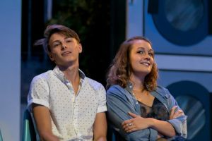 Mason Henning as Robbie and Kennedy Ellis as Velcro. Photo / Daren Stahl Photography