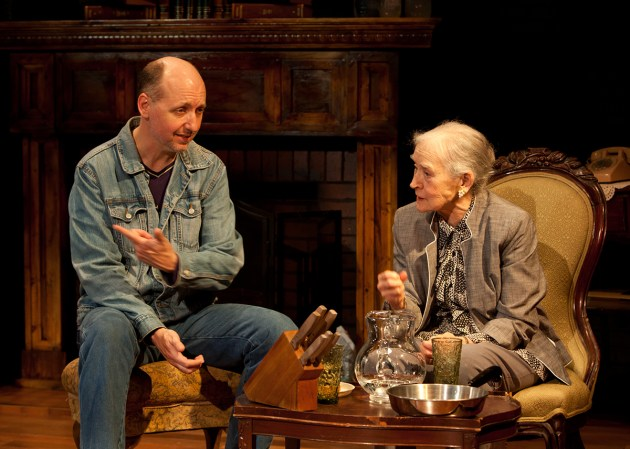 "David Hanson and Dorothy Silver in the Beck Center for the Arts production of ""The Velocity of Autumn."""