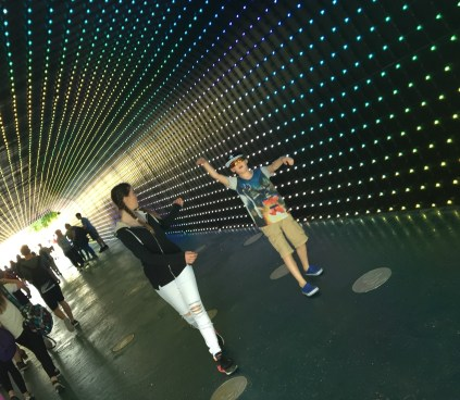 dancing in the tunnel