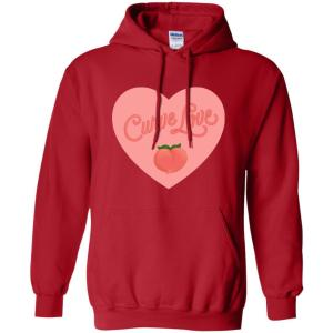 Curve Love Classic Fit Hoodie Sweatshirt in Red from AllGo's merch store featuring plus size statement apparel and more