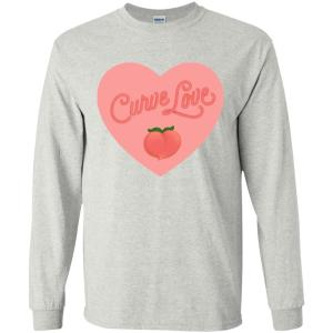 Curve Love Classic Fit Long Sleeve Cotton T-Shirt in Ash from AllGo's merch store featuring plus size statement apparel and more