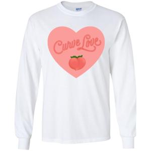 Curve Love Classic Fit Long Sleeve Cotton T-Shirt in White from AllGo's merch store featuring plus size statement apparel and more