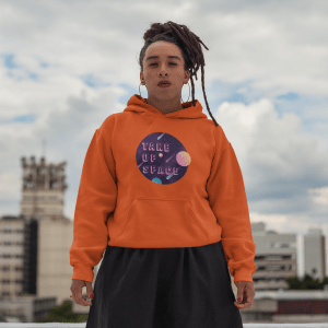 Take Up Space Classic Fit Hoodie Sweatshirt in from AllGo's merch store featuring plus size statement apparel and more