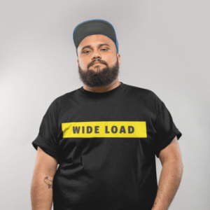 W I D E L O A D Classic Fit Cotton T-Shirt in from AllGo's merch store featuring plus size statement apparel and more