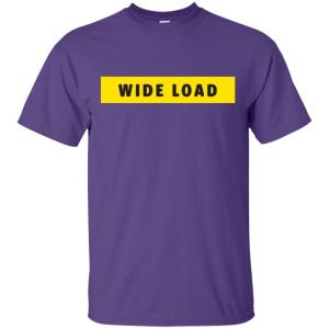 W I D E L O A D Classic Fit Cotton T-Shirt in Purple from AllGo's merch store featuring plus size statement apparel and more