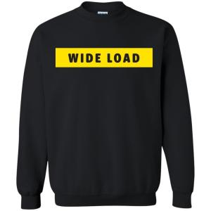 W I D E L O A D Classic Fit Crewneck Sweatshirt in Black from AllGo's merch store featuring plus size statement apparel and more