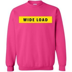 W I D E L O A D Classic Fit Crewneck Sweatshirt in Heliconia from AllGo's merch store featuring plus size statement apparel and more