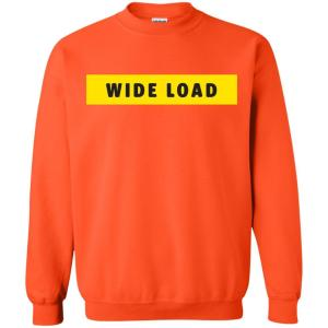 W I D E L O A D Classic Fit Crewneck Sweatshirt in Orange from AllGo's merch store featuring plus size statement apparel and more