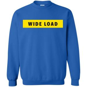 W I D E L O A D Classic Fit Crewneck Sweatshirt in Royal from AllGo's merch store featuring plus size statement apparel and more