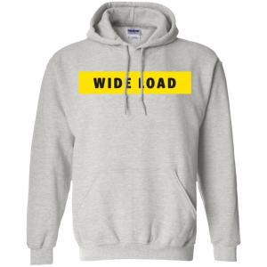W I D E L O A D Classic Fit Hoodie Sweatshirt in Ash from AllGo's merch store featuring plus size statement apparel and more