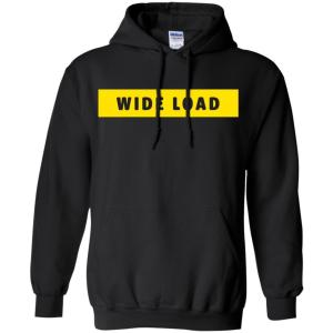 W I D E L O A D Classic Fit Hoodie Sweatshirt in Black from AllGo's merch store featuring plus size statement apparel and more