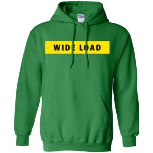 W I D E L O A D Classic Fit Hoodie Sweatshirt in Irish Green from AllGo's merch store featuring plus size statement apparel and more