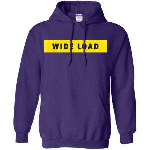 W I D E L O A D Classic Fit Hoodie Sweatshirt in Purple from AllGo's merch store featuring plus size statement apparel and more