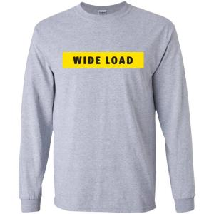 W I D E L O A D Classic Fit Long Sleeve Cotton T-Shirt in Sport Grey from AllGo's merch store featuring plus size statement apparel and more
