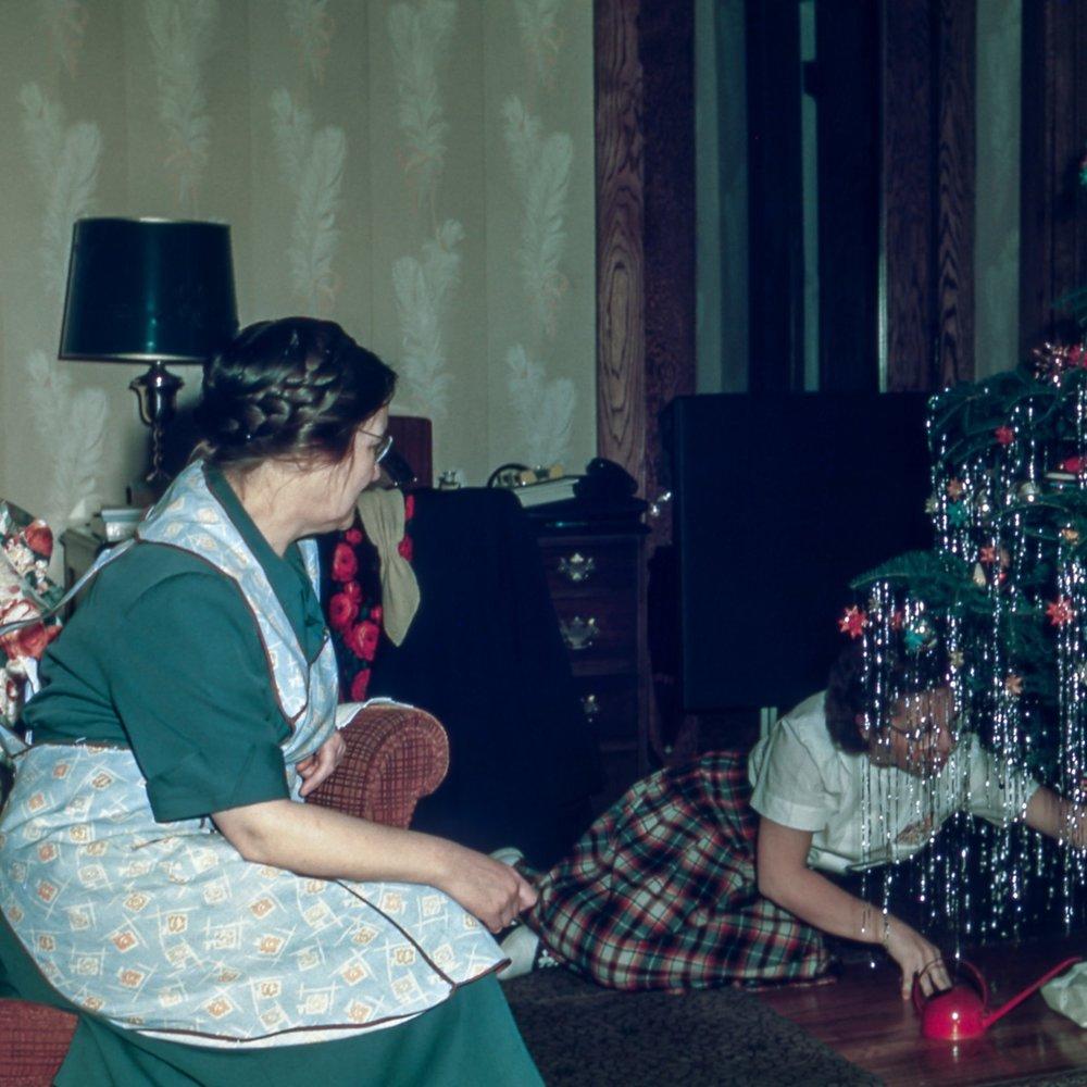 christmas present opening