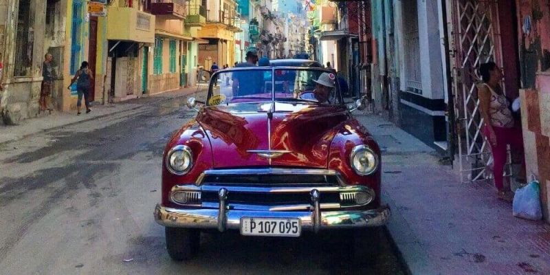 Classic car in Central Havana, Cuba