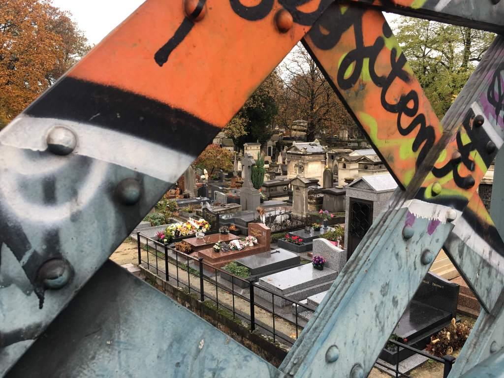 Montmartre Cemetery Graffiti