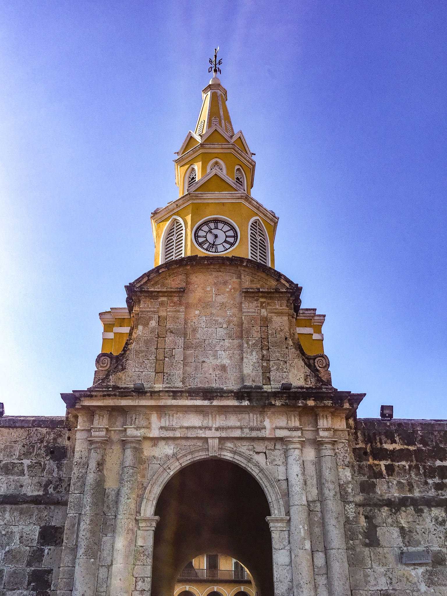 Old Town Cartagena  - Walled City - Clock Tower