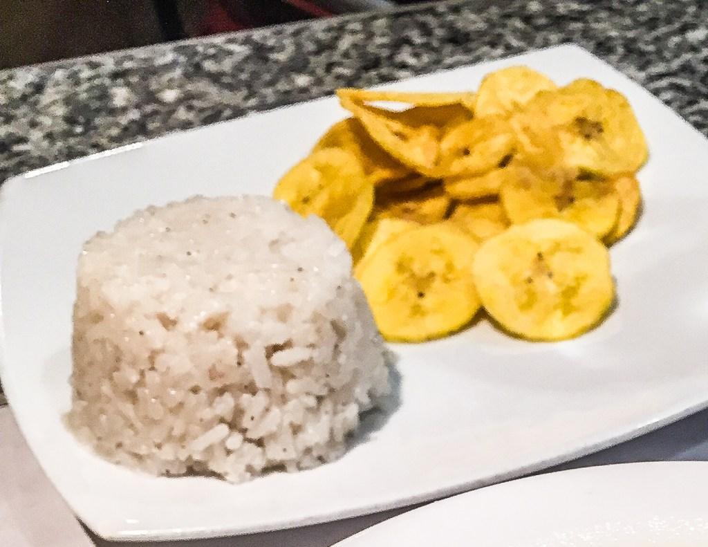 Coconut rice in Cartagena, Colombia