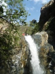 Haut d'une des falaise du canyon Setti Fatma.