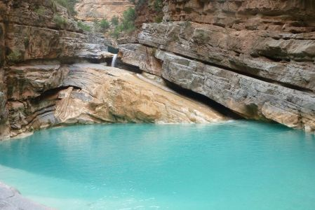 Canyon in the Paradise Valley in the region of Agadir.