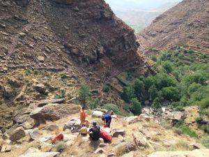 Paysage du canyon de Tazitounte dans la région de Marrakech
